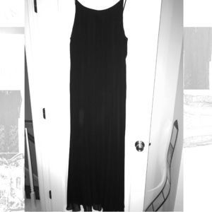 Black long plated dress